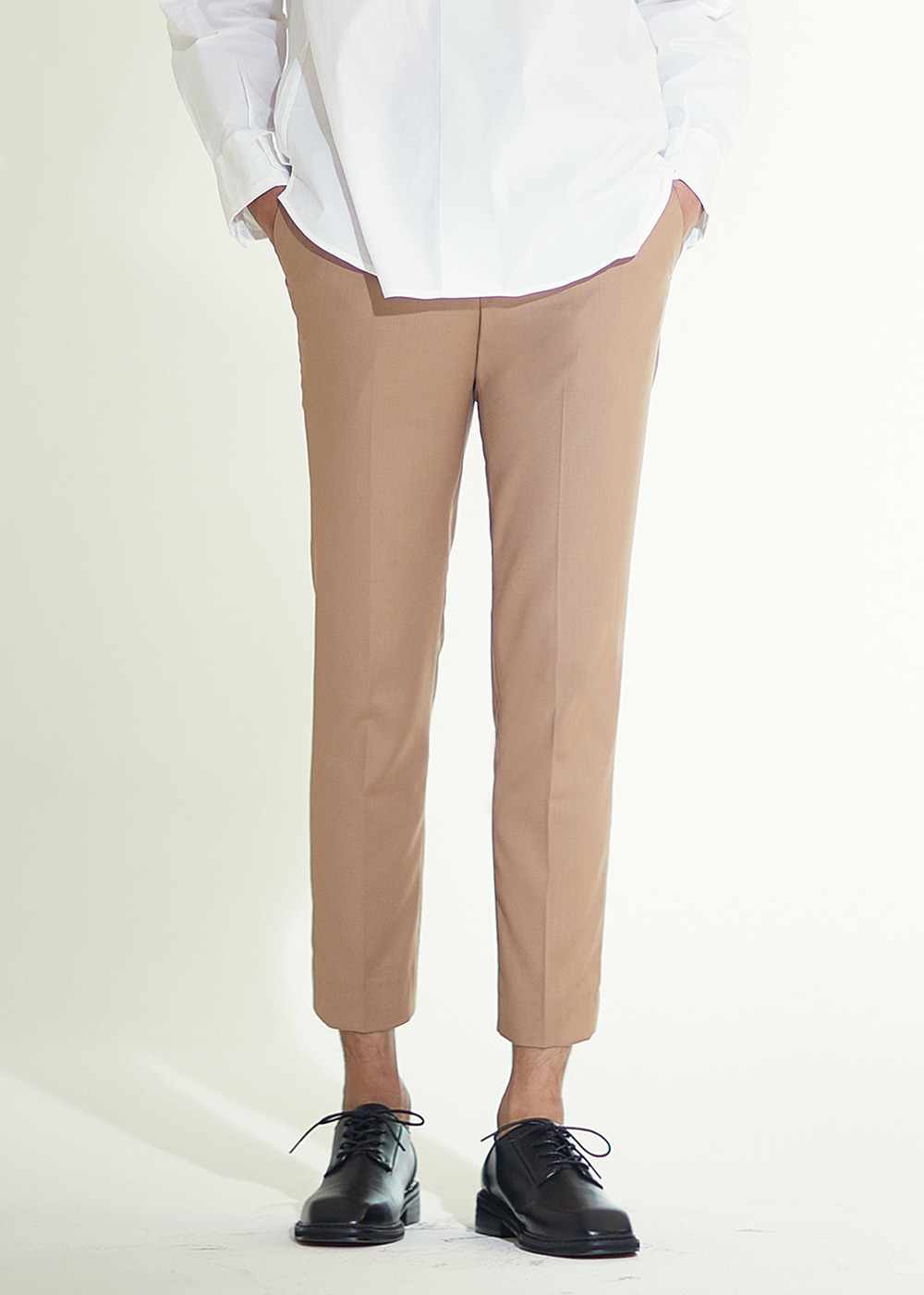 201 TAPERED SLIMFIT CROP SLACKS MOCHA