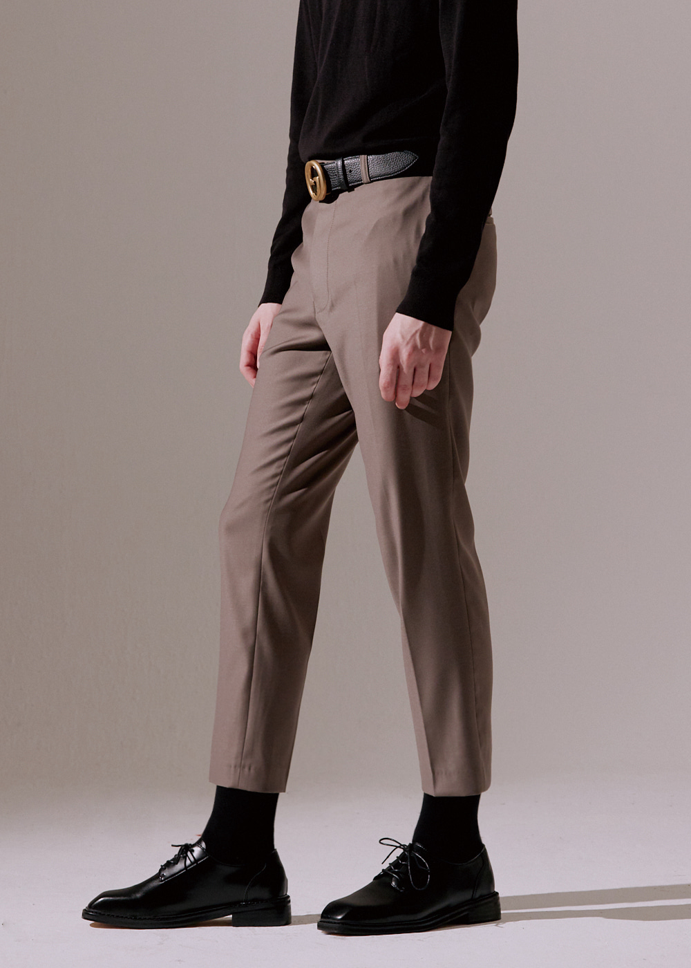 201 TAPERED SLIMFIT CROP SLACKS KHAKI