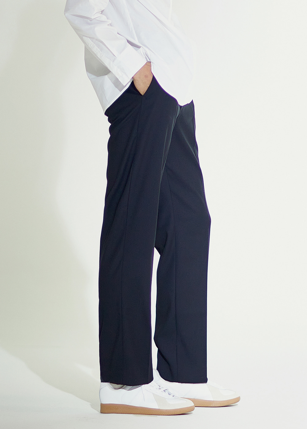 202 SEMI WIDE SLACKS BLACK