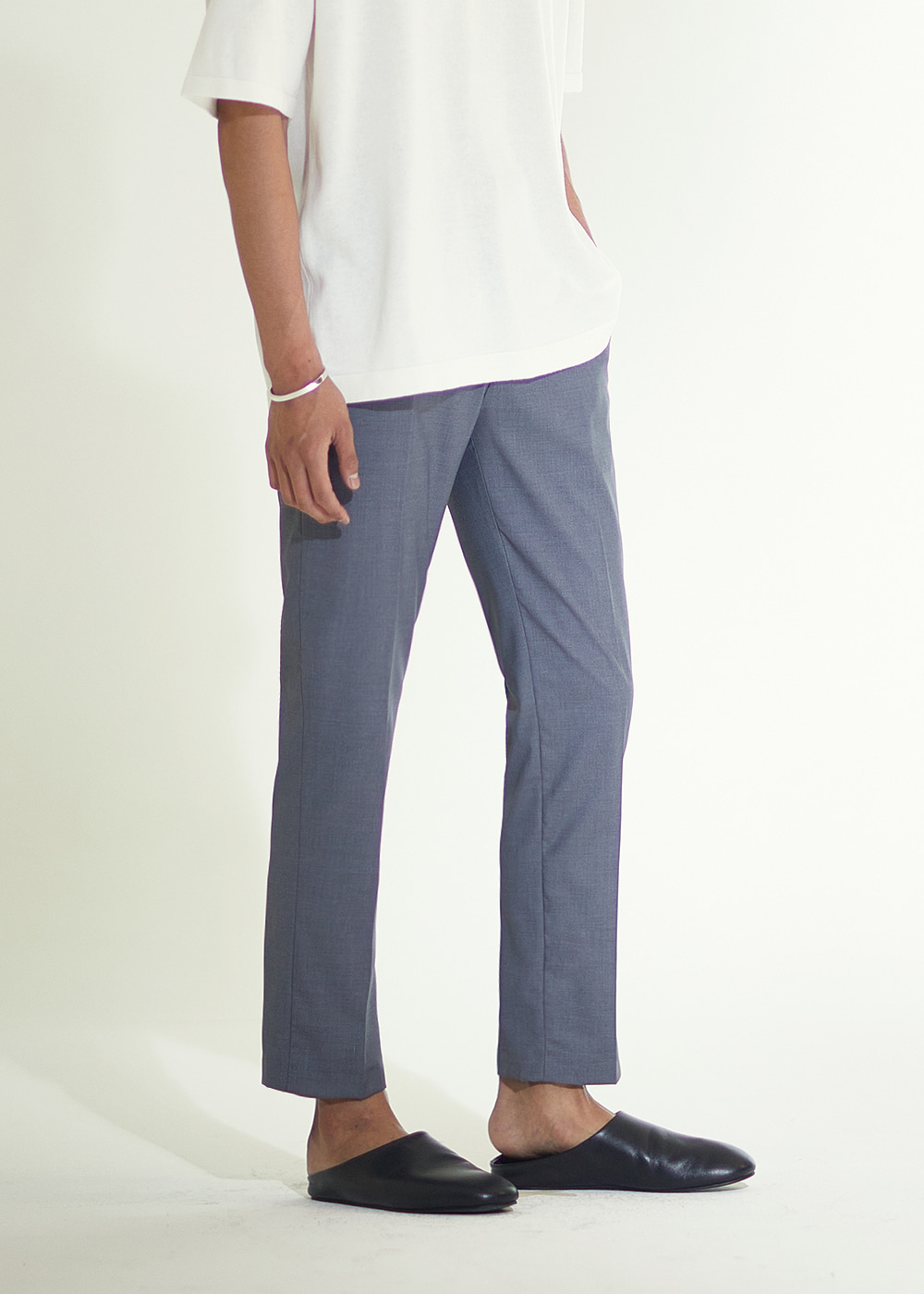 204 TAPERED REGULAR FIT SLACKS MELANGE GREY