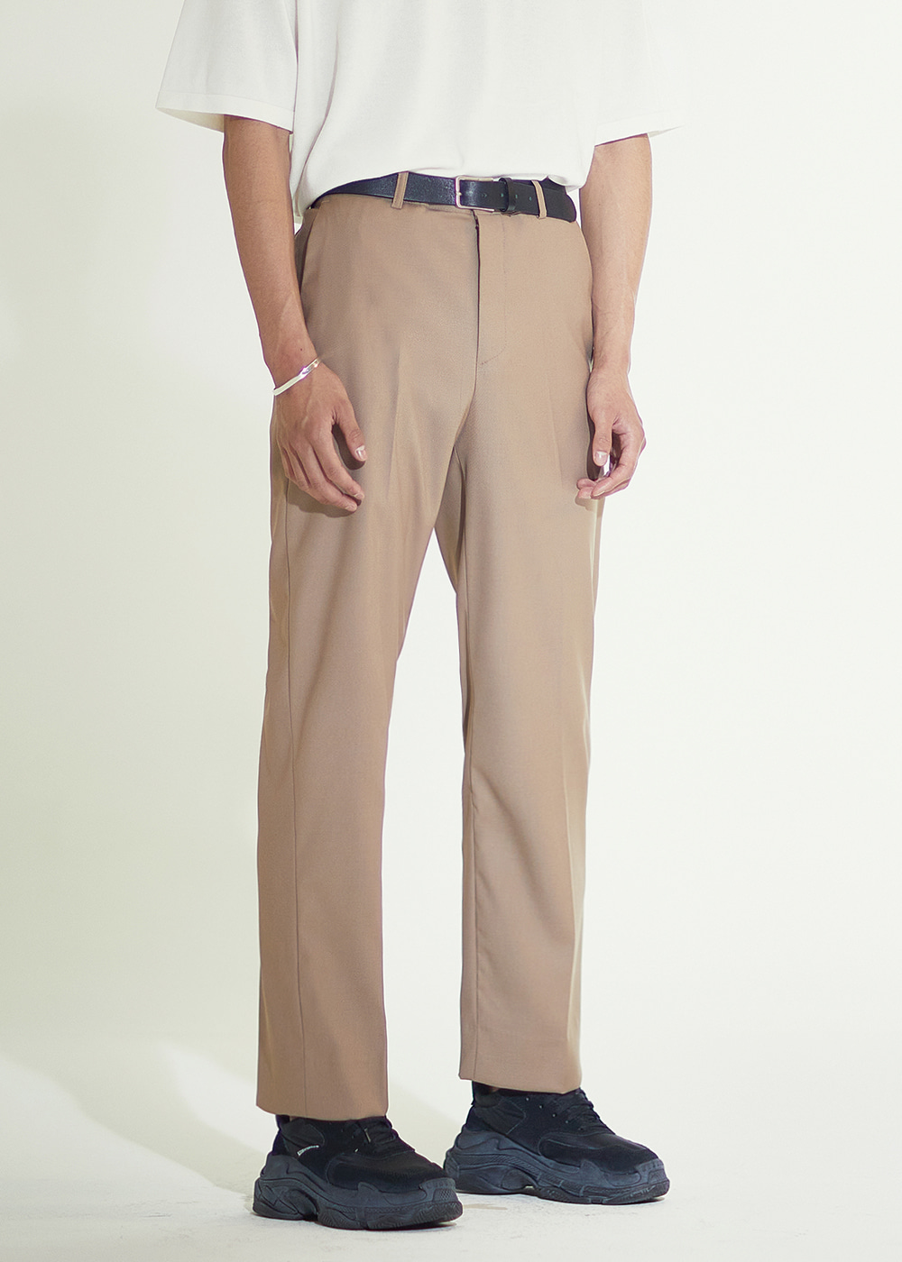 202 SEMI WIDE SLACKS MOCHA